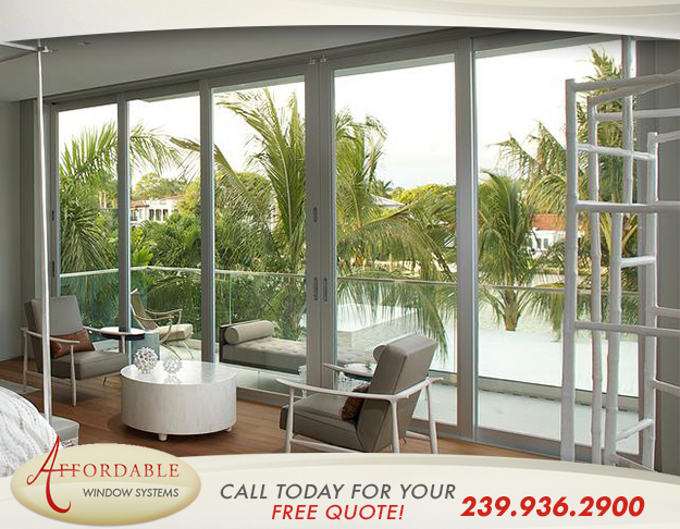 Replacement Impact Aluminum Doors in and near Cape Coral Florida