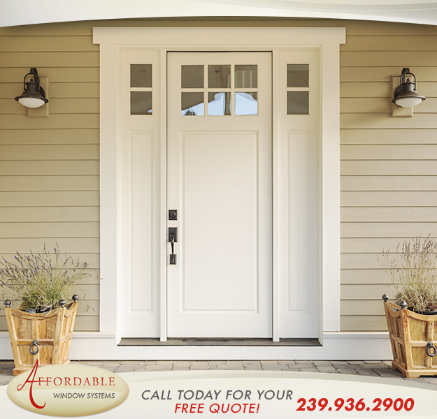 Replacement Impact Fiberglass Doors in and near Cape Coral Florida