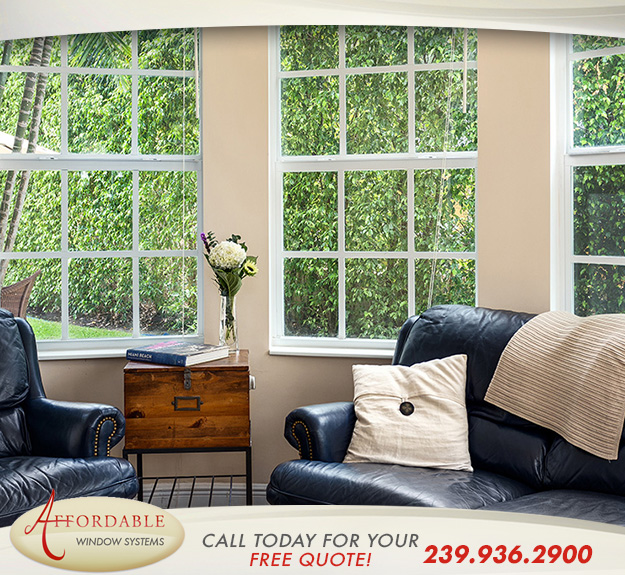 Replacement Impact Single Hung Windows in and near Estero Florida