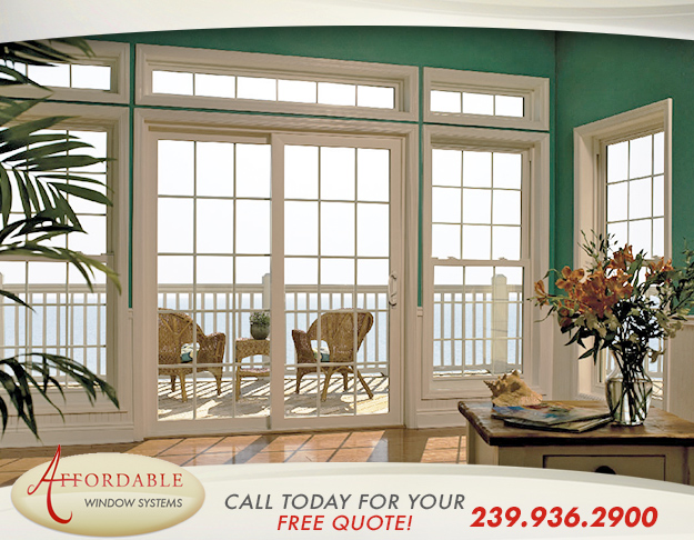Replacement Impact Sliding Glass Doors in and near Sanibel Florida